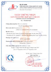 Chung nhan Hop quy 213x300 - Khóa Từ ADEL