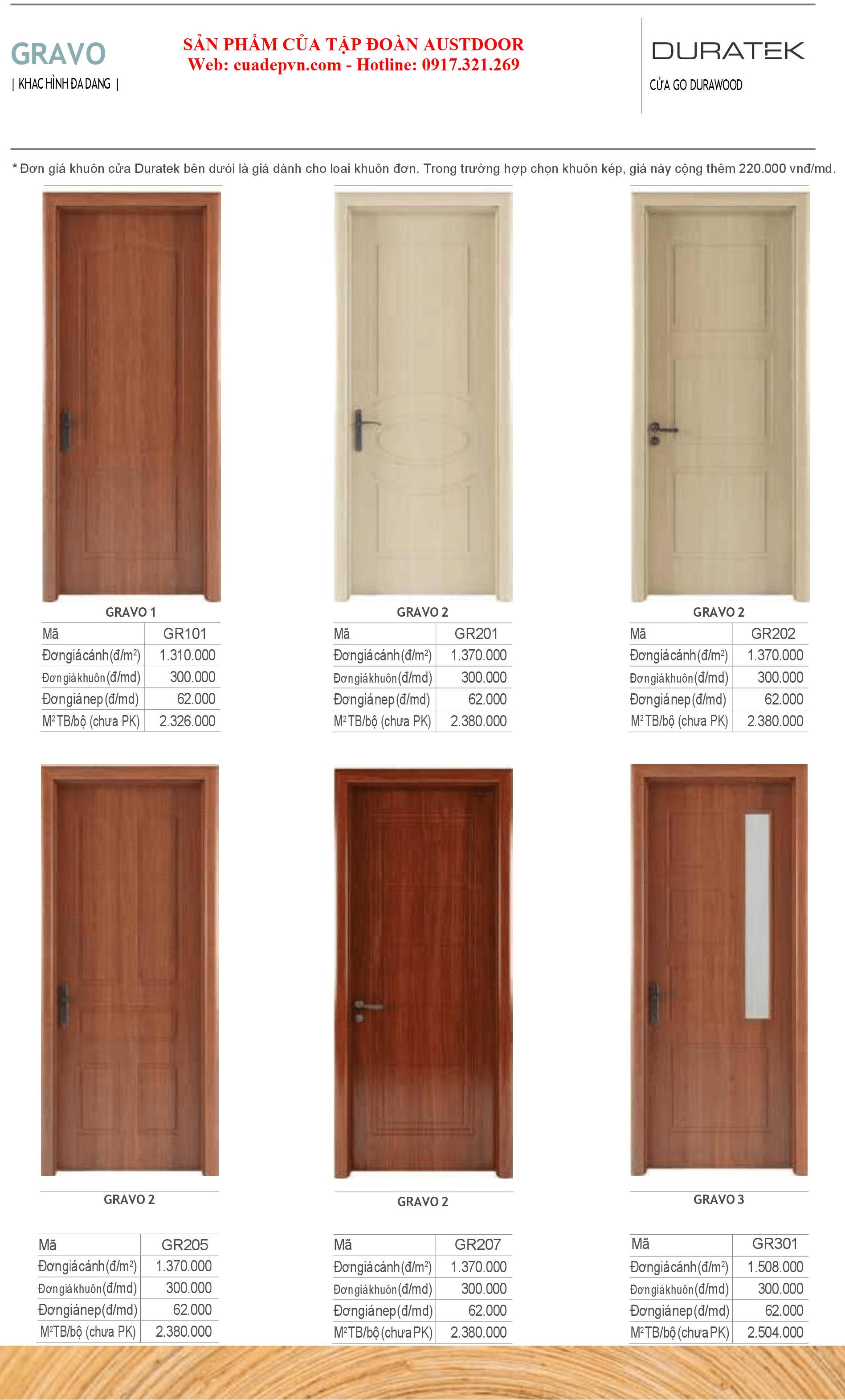 Duratek 2 - Cửa gỗ Công Nghiệp Chịu Nước DURATEK Gravo 205