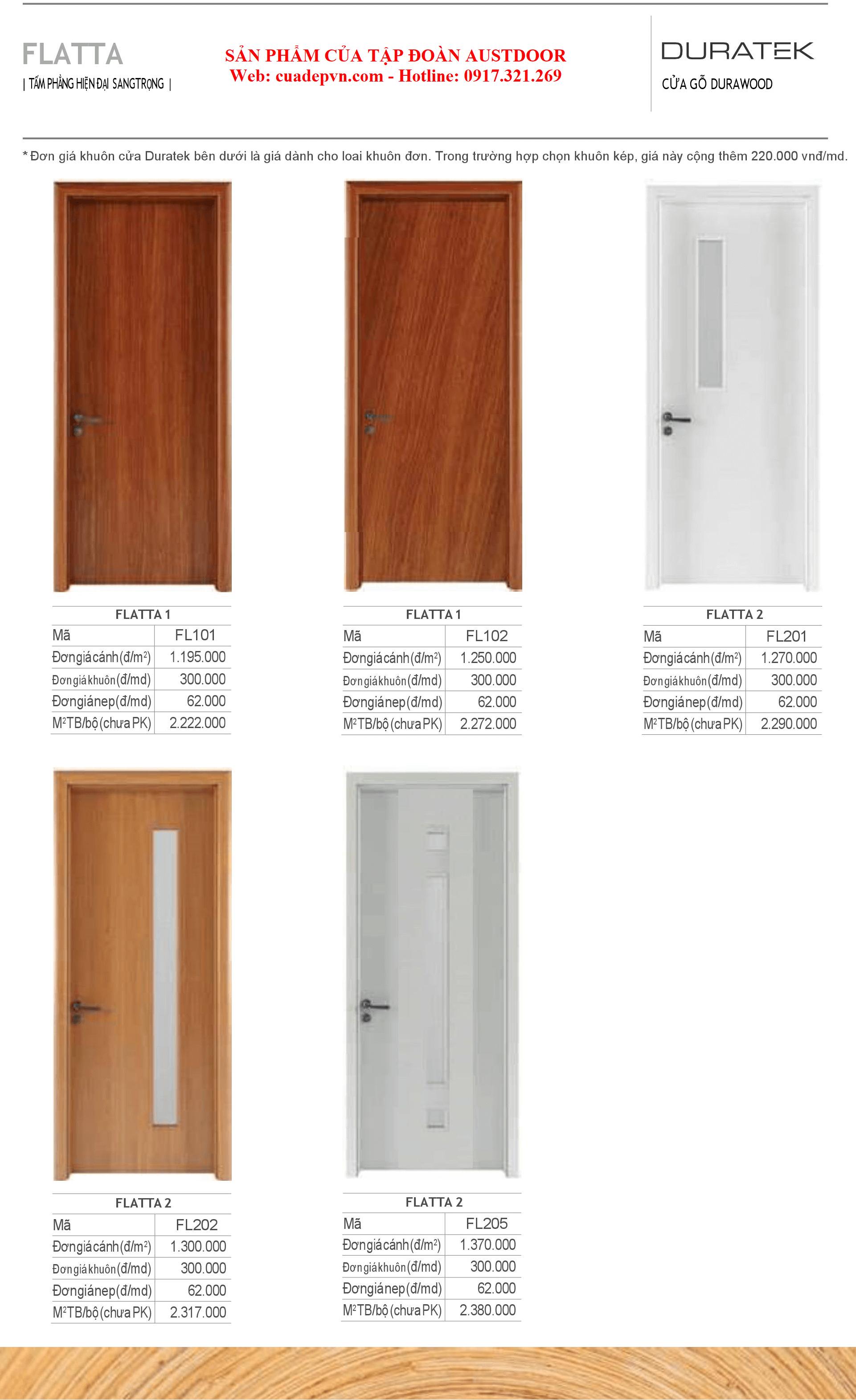 Duratek - Báo giá cửa gỗ