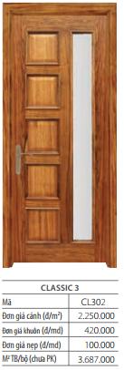 solitek 3 - Cửa gỗ SOLITEK Classic 204